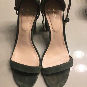Aldo olive green heels